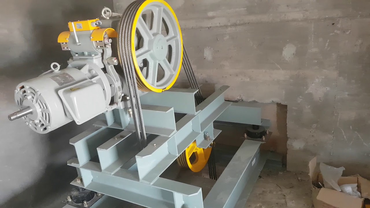 HOW TO INSTALL HYDRAULIC PASSENGER LIFT-04/HOW ELEVATOR WORK BY GUIDE RAIL  & ROPE GRIBBER ALIGNMENT