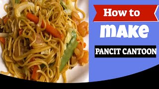 How to make Pancit Canton by: Chef Girlie