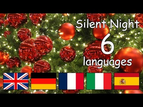 Silent Night in different languages with lyrics | Happy Children