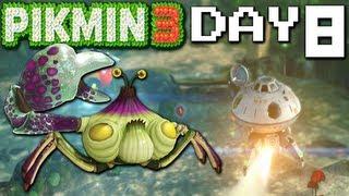 Pikmin 3: Beach Bomb - DAY 8 (Nintendo Wii U HD Gameplay Walkthrough)