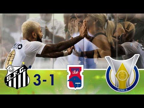 Melhores momentos - Santos 3 x 1 Paraná - Campeonato Brasileiro (13/05/2018)
