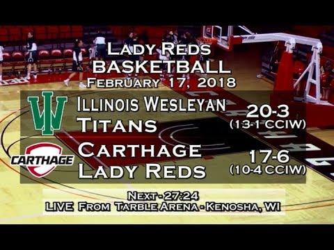Carthage Women's Basketball vs  Illinois Wesleyan 2018_2_17