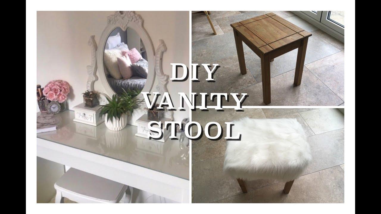 Diy Vanity Stool For Under 20 Fluffy Glam Youtube