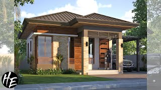 Small House Design L Beautiful And Modern Small Bungalow House  7x8m  L Complete Plans