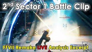 Second Sector 1 Battle Clip | FFVII Remake Live Analysis Excerpt