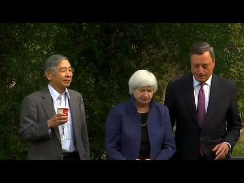 US & European central banks' chiefs address Jackson Hole symposium