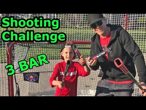 Kids HocKey Shooting Challenge Ultimate Snipe Session and 3 Bar  CBanks vs Rob from ButtEndz