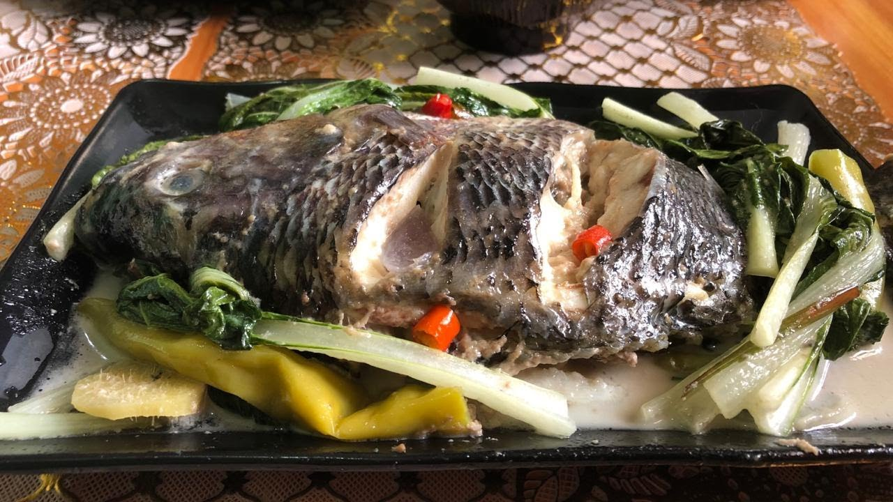 How to cook Tilapia with coconut milk   All time favorite   Cooking and Eating Show - YouTube