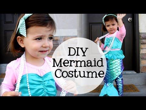 a951474cc08f DIY Little Girl Mermaid Costume - YouTube