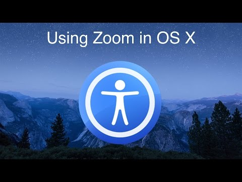 Using Zoom in OS X