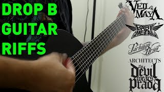 5 Heavy Drop B Guitar Riffs On A 6 String Guitar