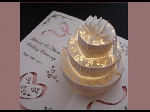wedding invitations pop up card ideas