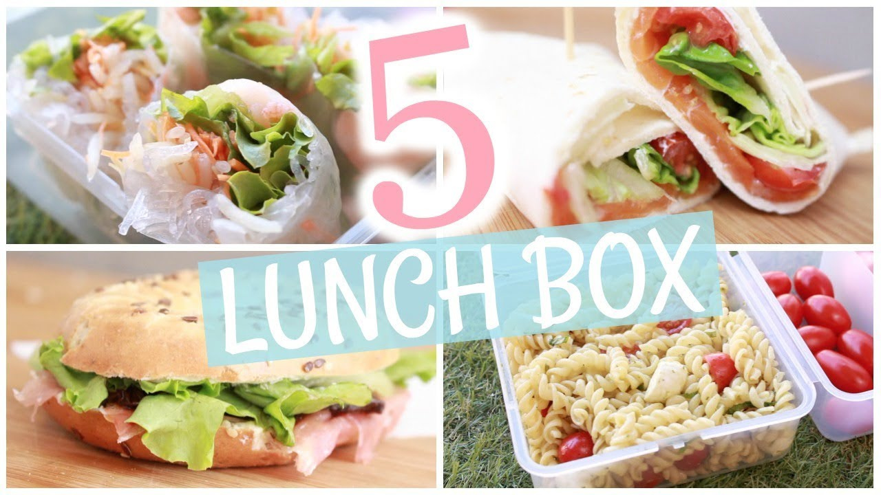 Download 📚 BACK TO SCHOOL : 5 lunch box pour l'école