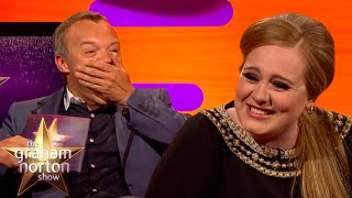 Adele Called Jennifer Aniston 'Rachel' While She Was Using A Cubicle | The Graham Norton Show