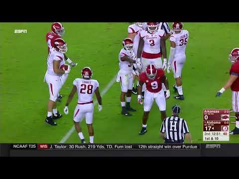 Alabama vs Arkansas, 2017 (in under 33 minutes)