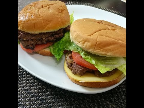 Homemade CheeseBurgers On National Cheese Burger Day