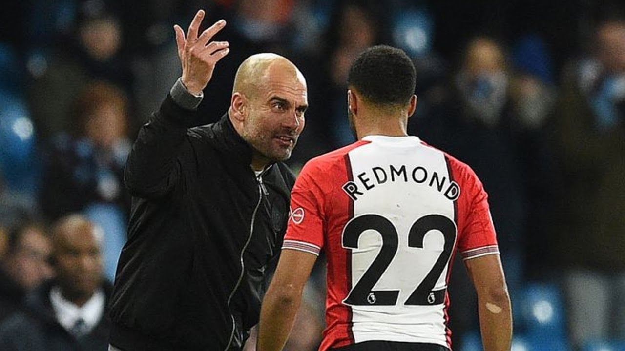 019890a692099 Pep Guardiola explains Nathan Redmond row at full time after Southampton win