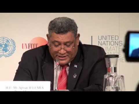 cop15 tuvalu media conference