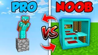 Minecraft NOOB vs. PRO : SWAPPED ONE BLOCK HOUSE in Minecraft (Compilation)