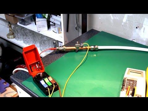 240V AC vs water in a plastic pipe