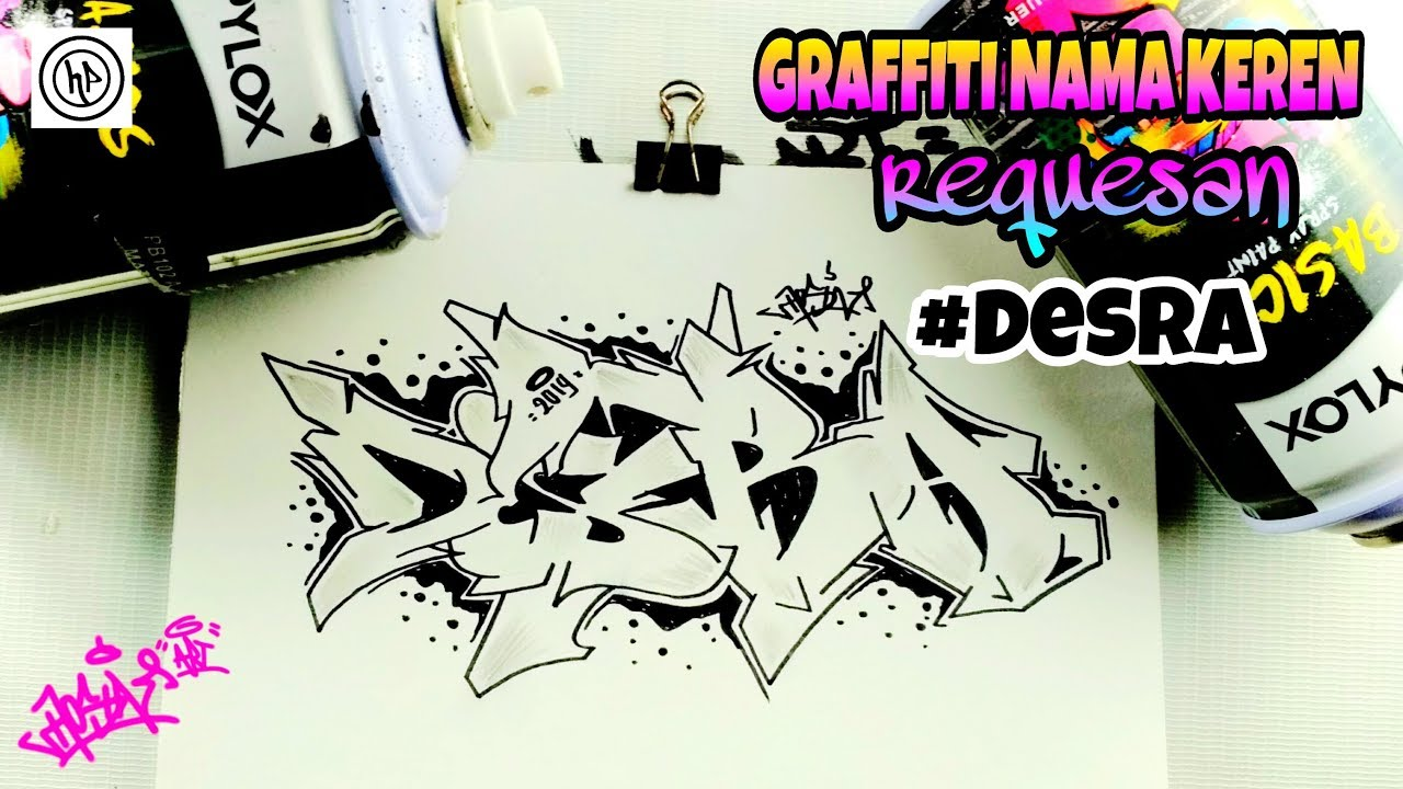 Cara Membuat Graffiti Kertas Nama Hitam Putih Keren