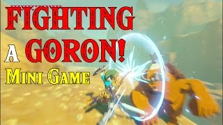 FIGHTING a GORON! Mini game ... yes it