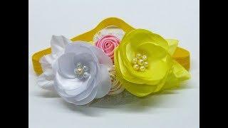 Como hacer una flor de listón – Banditas con flores elaboradas Facilmente