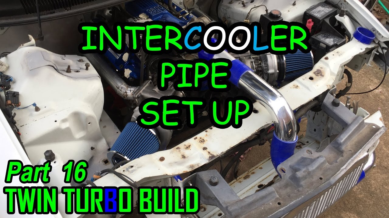Intercooler pipe set up chevrolet Camaro 3800 series 2 Twin Turbo Build -  Part 16