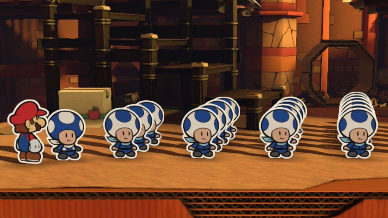 All Blue Toad Rescue Squad Locations - Paper Mario: Color Splash ...