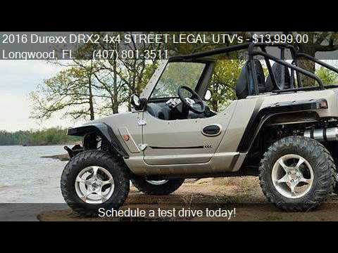 2016 Durexx Drx2 4x4 Street Legal Utv S Drx2 4x4 For Sale In Youtube