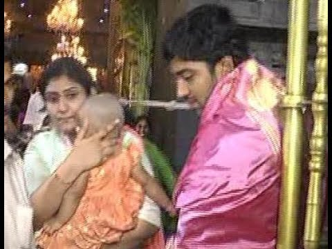 Allari Naresh Family In Tirumala | Wife, Daughter