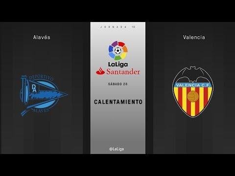 Calentamiento Alavés vs Valencia
