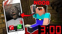 Minecraft GRANNY CALLED A NOOB 3 00 AM! SCARY MINECRAFT HORROR Challenge in Minecraft Animation