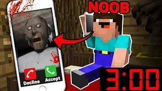Minecraft GRANNY CALLED A NOOB 3 00 AM! SCARY MINECRAFT HORROR Challenge in Minecraft Animation