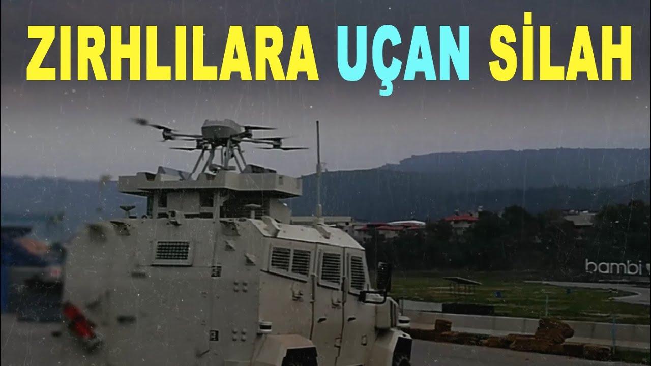 Askeri araçlara silahlı drone koruması - Armed drone protection for military vehicles - Songar