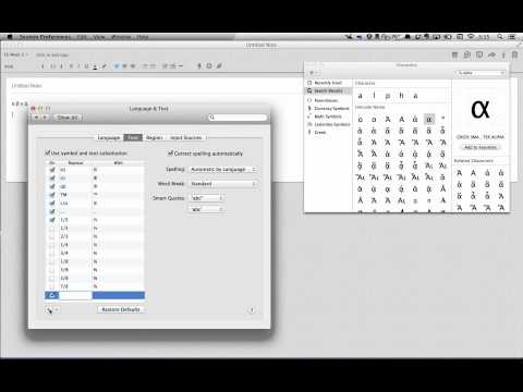 Greek Letter Shortcuts Mac OS X 10.8