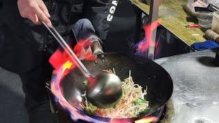 Chinese Street Food soy sauce fried rice fried noodles Jingjiu market night market snacks