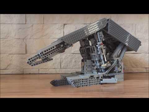 LEGO sekcja obudowy zmechanizowanej w kopalni węgla, powered roof support in a coal mine
