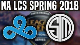 C9 vs TSM - NA LCS Spring 2018 Week 8 Day 2 - Cloud9 vs Team SoloMid W8D2 NA LCS | Be Challenger