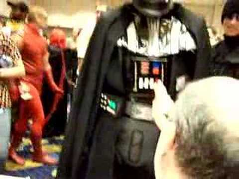 George Lowe Messing with Darth Vader at DragonCon