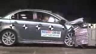 Краш тест Mitsubishi lancer X