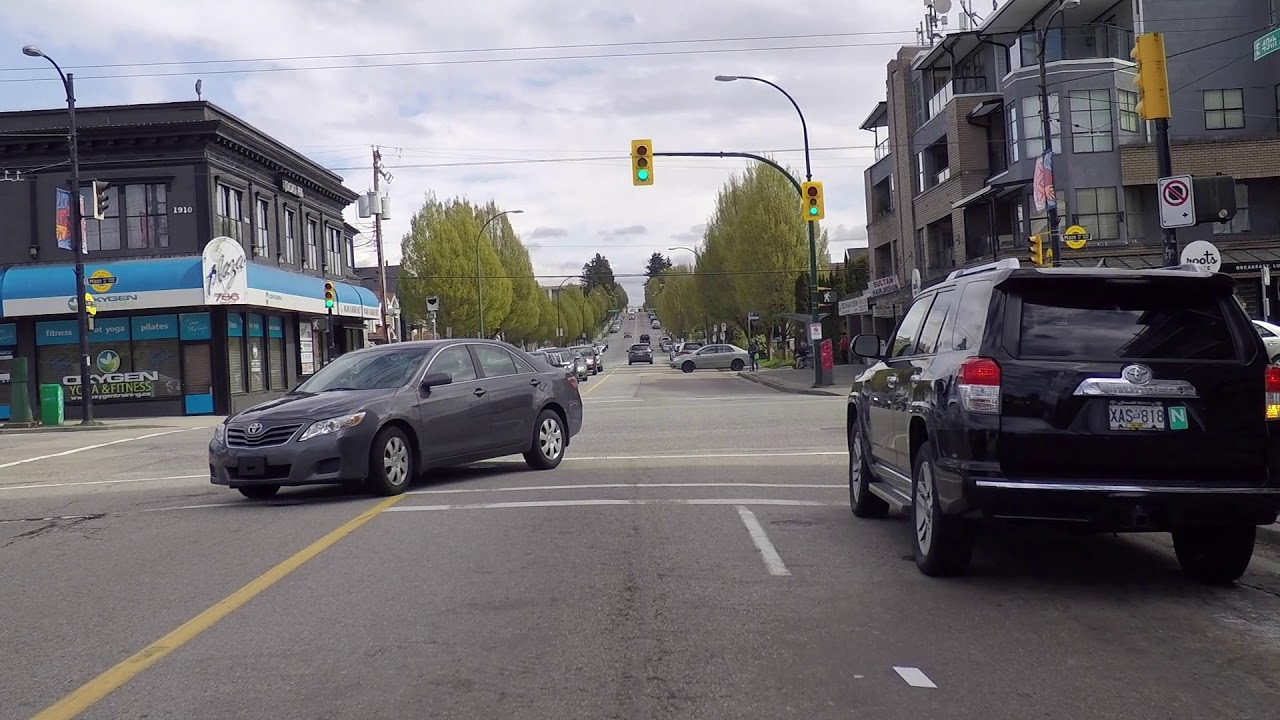Driving In Vancouver Bc Canada Spring 2019 City Drive