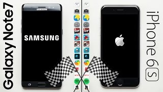 Galaxy Note 7 vs iPhone 6S Speed Test
