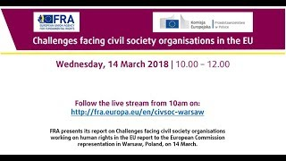 Challenges facing civil society organisations in the EU - FRA report presentation