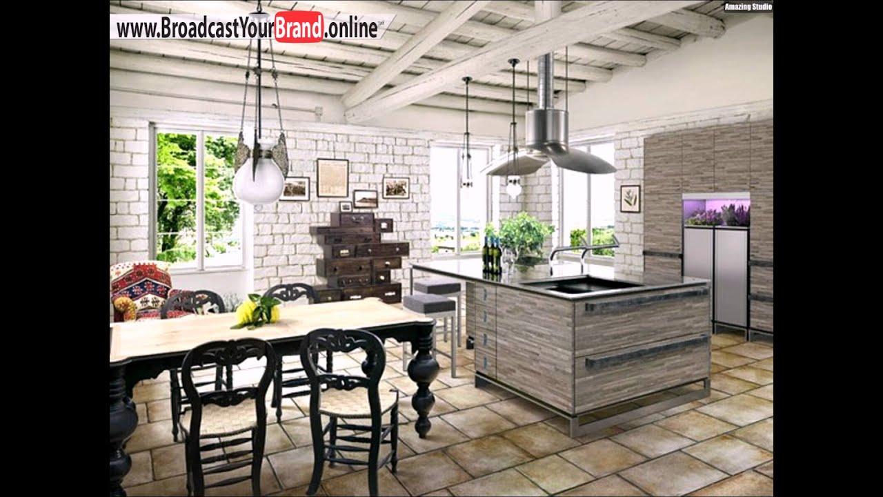 Weiße Küche Rustikale Möbel Accessoires Wohnideen - YouTube