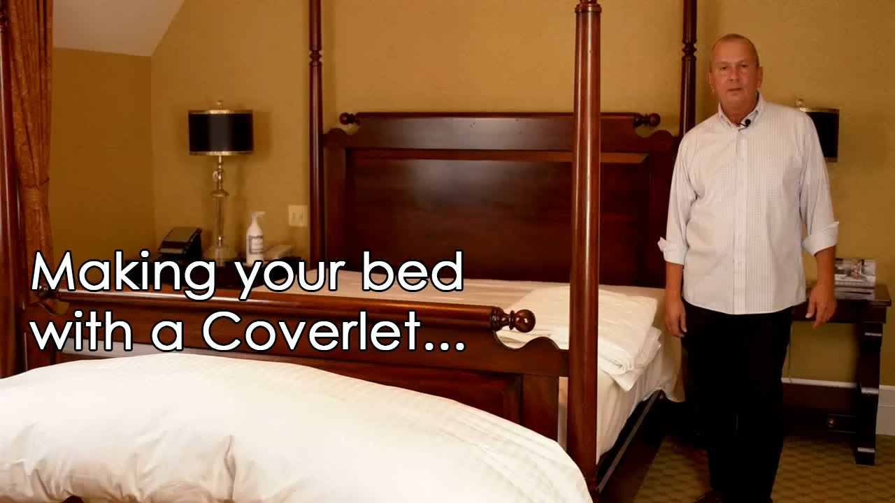 How To Make Your Bed With A Coverlet