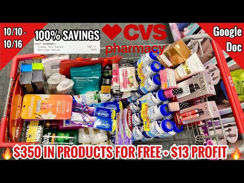 CVS Free & Cheap Coupon Deals & Haul   10/10 – 10/16   $350 IN PRODUCTS FOR FREE + $13 PROFIT!🔥🙌🏽