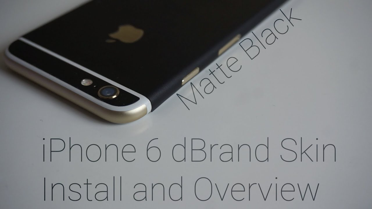 purchase cheap 69fd0 2925b Matte Black iPhone 6 dBrand skin Unboxing and Install!