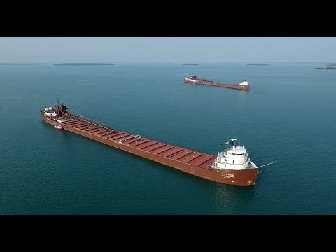 Shipping on the Great Lakes... A Bird's Eye View, Summer 2015, Part 2 in HD