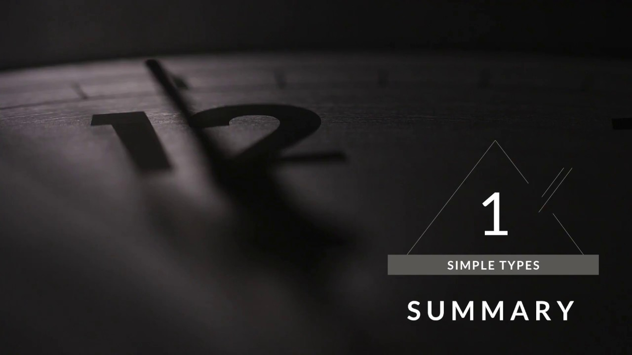 Simple Types: Summary – Swift in Sixty Seconds